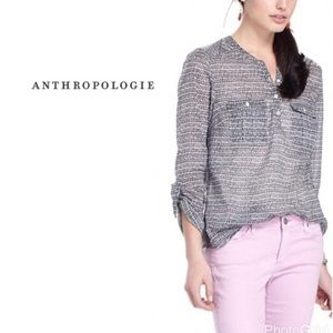 Anthropologie Holding Horses Tulip Button Down Top